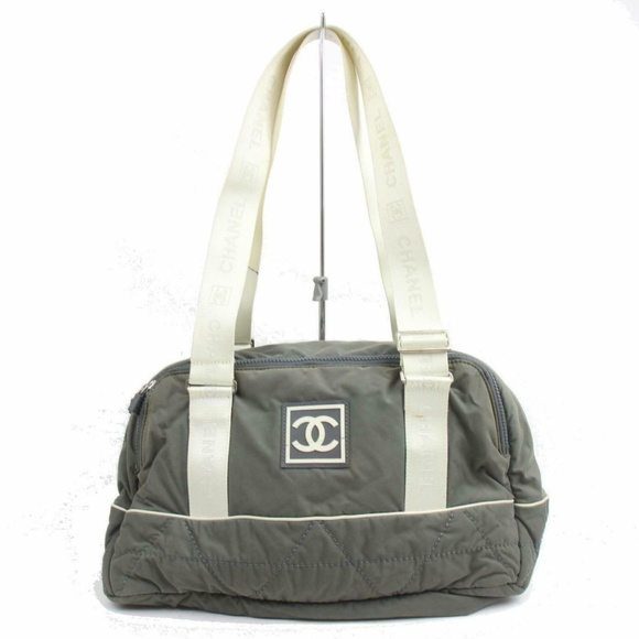 CHANEL Handbags - Chanel Shoulder Bag Olive Nylon